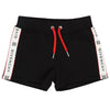 Givenchy Black Logo Shorts  h14049-09b-