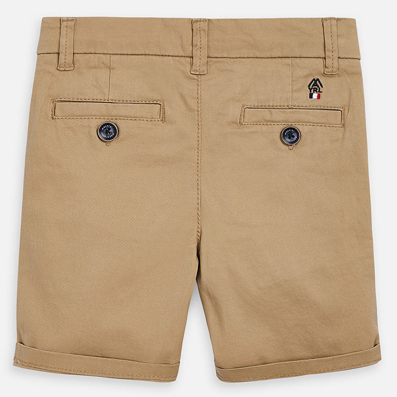 MAYORAL-202-53-TWILL CHINO SHORTS-BEECH