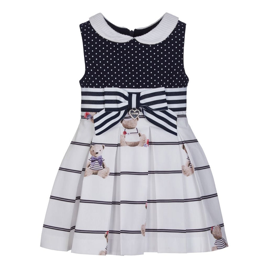 LAPIN HOUSE NAVY POLKA DOT DRESS