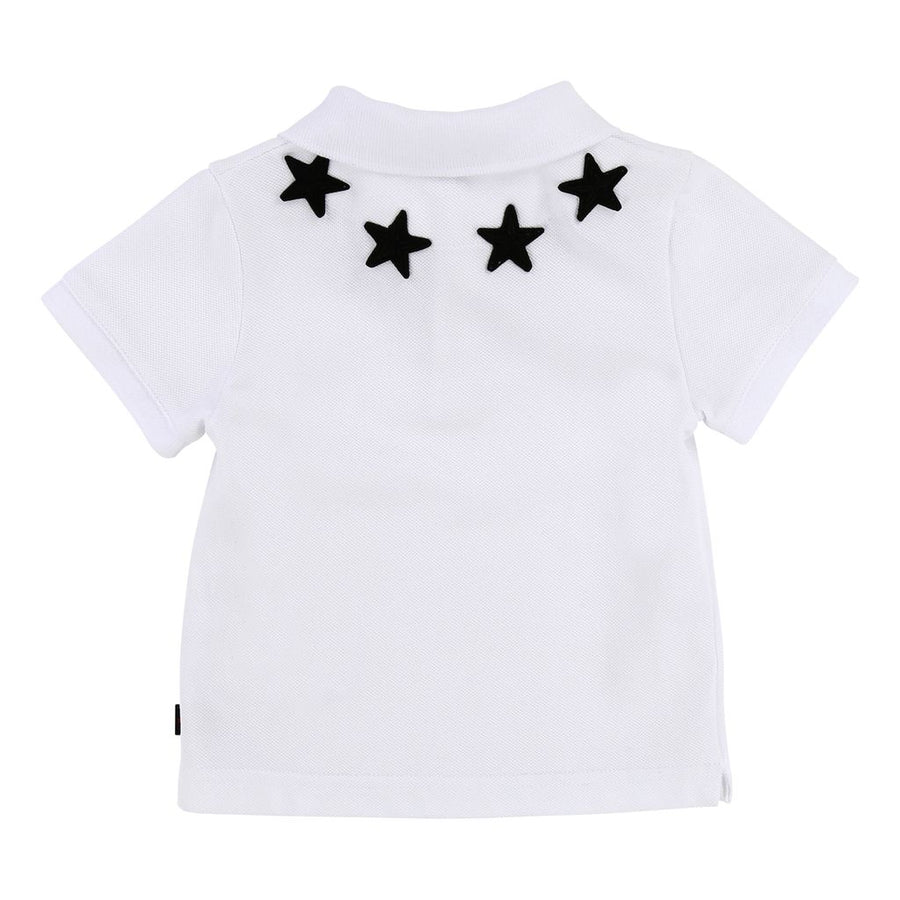 GIVENCHY WHITE EMBROIDERED STAR POLO