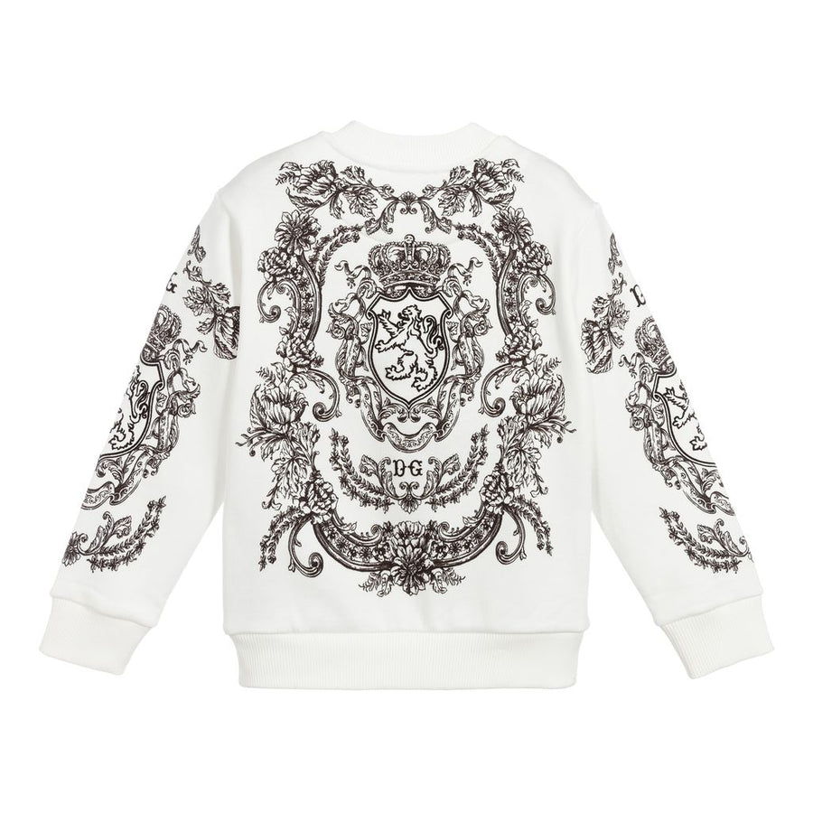 WHITE GRAPHIC SWEATSHIRT