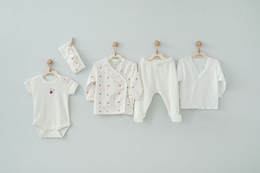 Andy Wawa White Strawberry Baby Cottons 5 PC Set