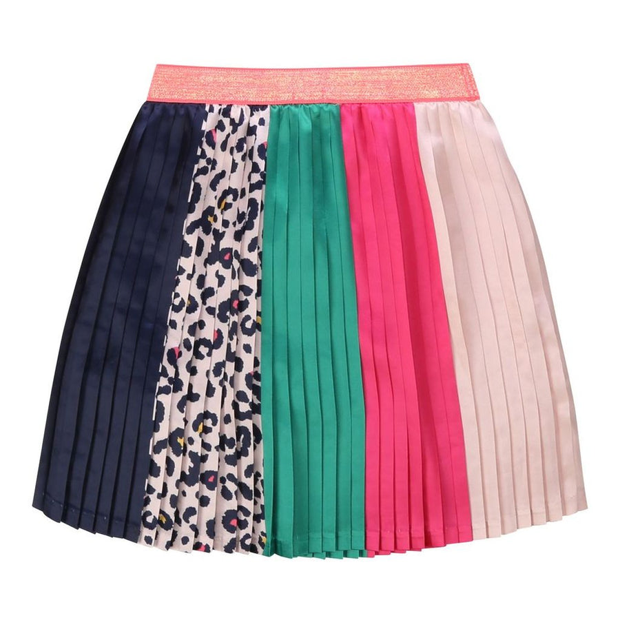 MULTI STRIPED SATIN SKIRT