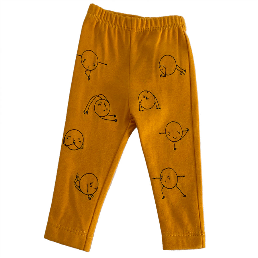 MILK372-YELLOW-YOGI PEA LEGGINGS BARN BEES PEAS