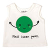 WHITE INNER PEAS TANK TOP