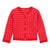 Red Kwickly Knitted Cardigan