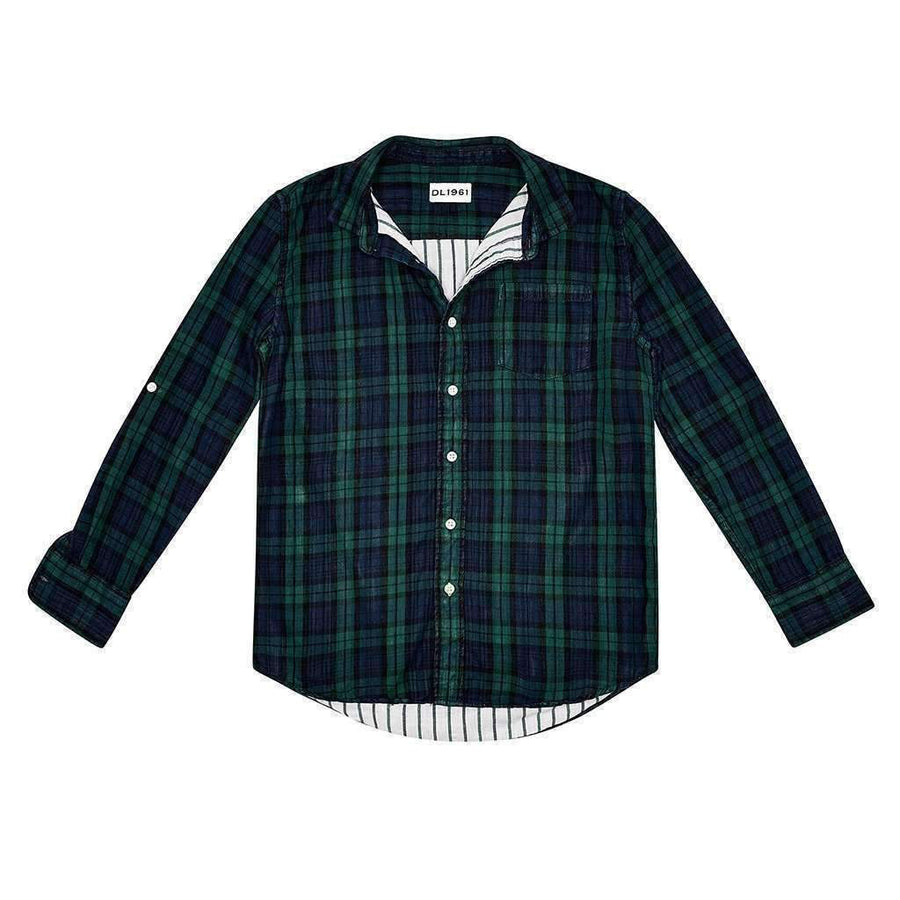 DL1961 Ash Green Double Face Plaid Shirt