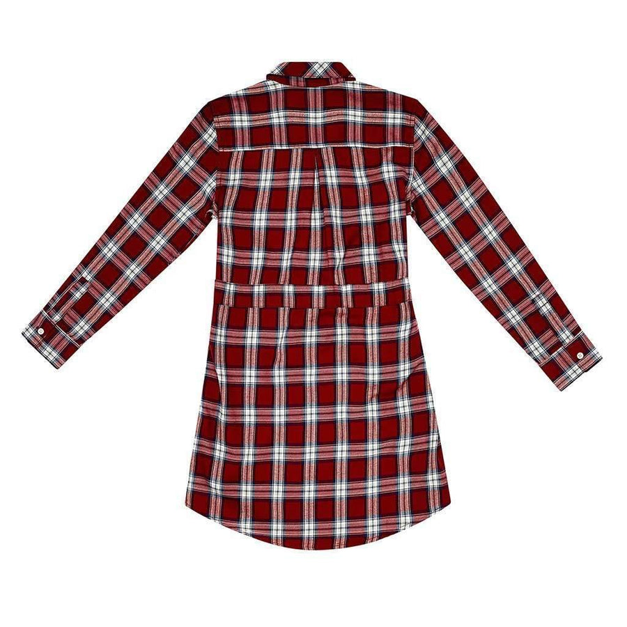 DL1961 Stella Red Plaid Dress-Dresses-DL1961-kids atelier