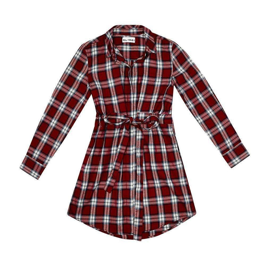 DL1961 Stella Red Plaid Dress
