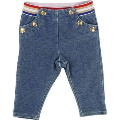 Embellished Blue Pants-Pants-Little Marc Jacobs-kids atelier