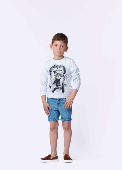 Feathered Feline Sweatshirt-Shirts-Billybandit-kids atelier