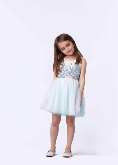 Floral Ceremony Dress-Dresses-Billieblush-kids atelier