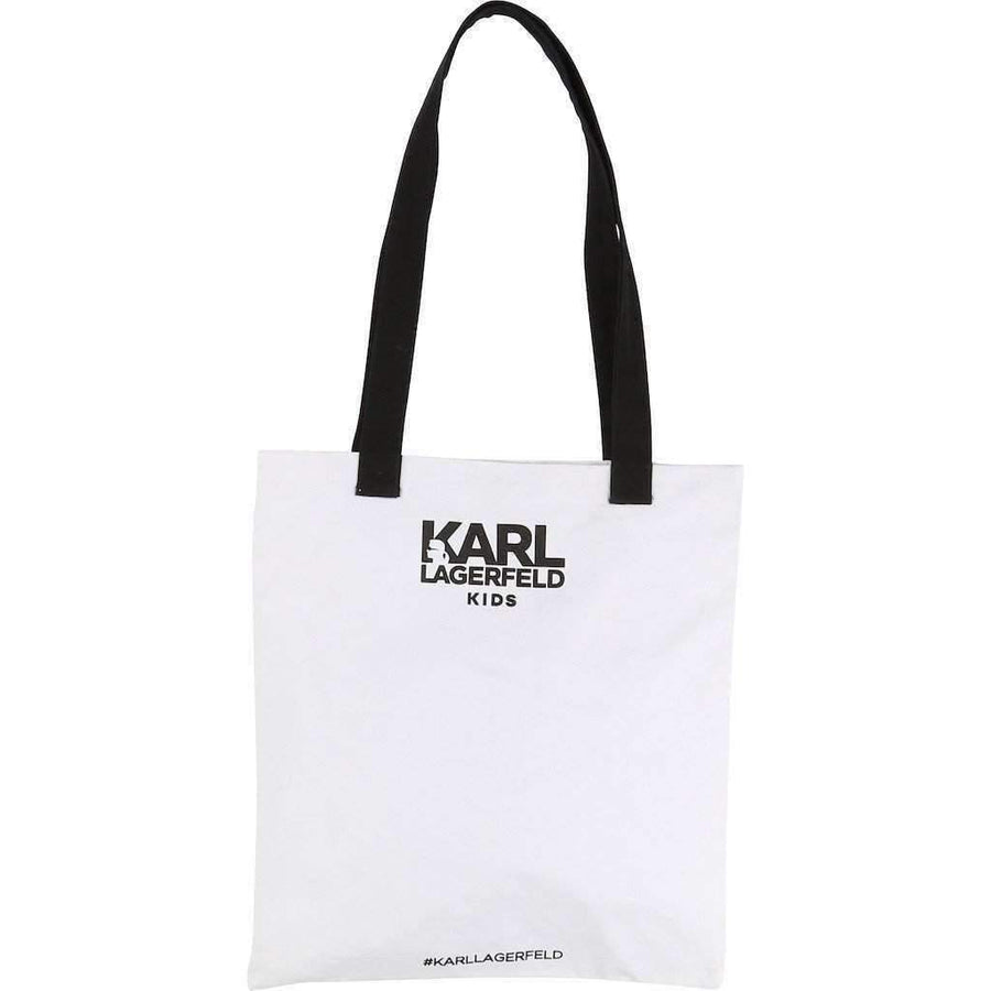 Graphic Glitter Tote Bag
