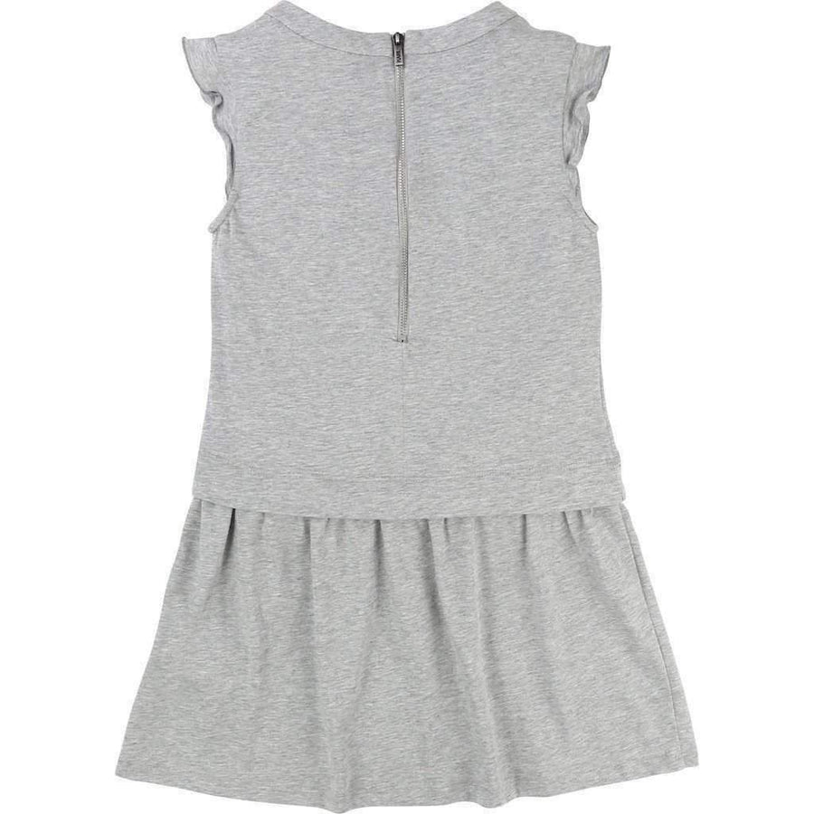 Gray Choupette Jersey Dress