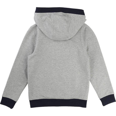 Gray Fleece Sweat Jacket-Outerwear-BOSS-kids atelier