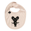 Huxbaby Biege Mouse Bib-Accessories-Huxbaby-ONE SIZE-kids atelier
