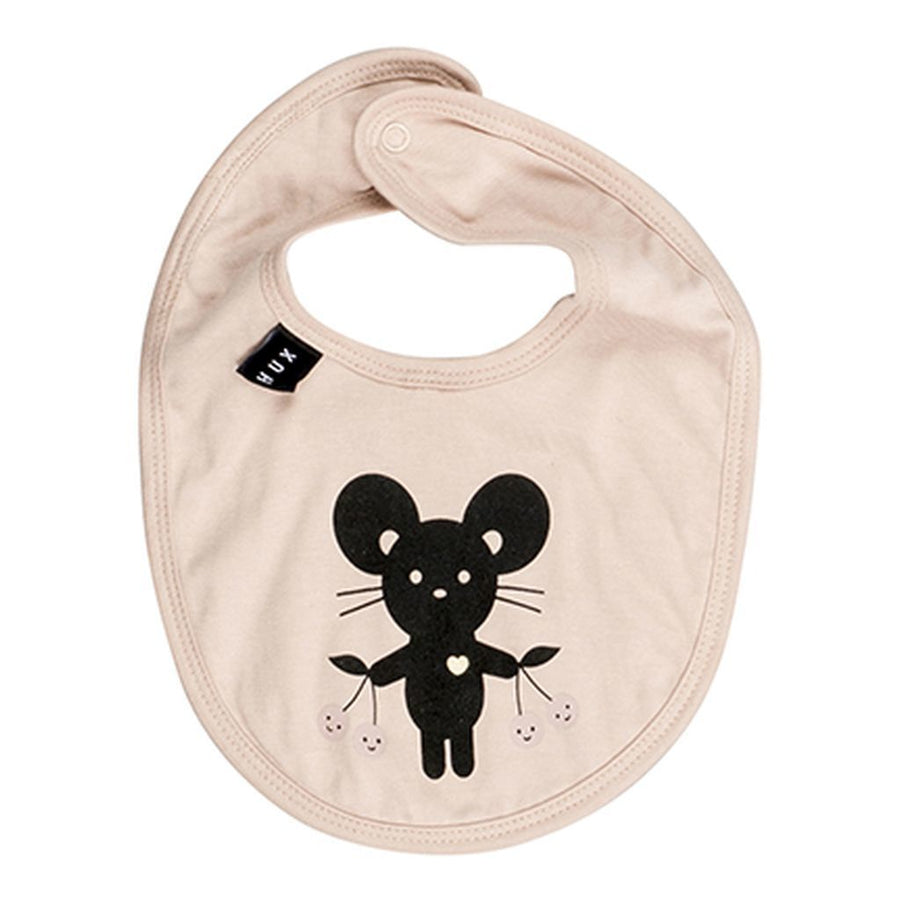 Huxbaby Biege Mouse Bib-Accessories-Huxbaby-kids atelier