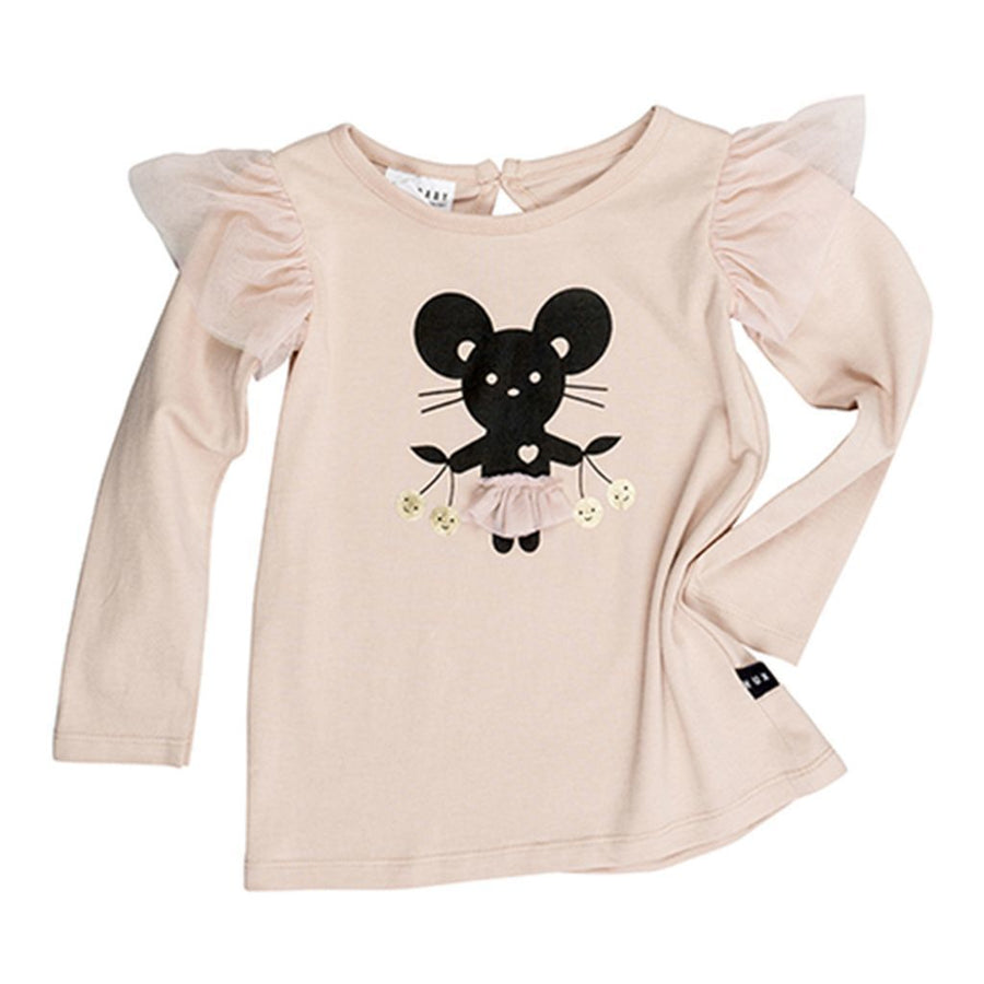 Huxbaby Peony Mouse Frill Top-Shirts-Huxbaby-kids atelier