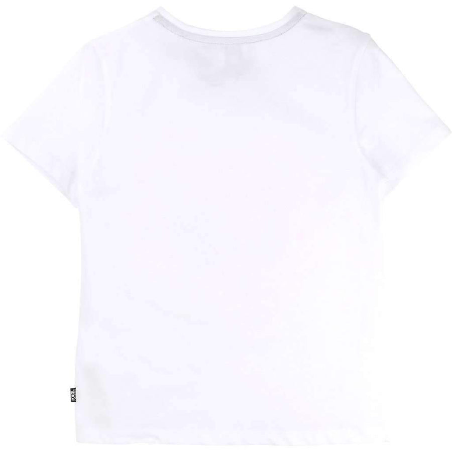 Karl Lagerfeld Graphic Glitter T-Shirt