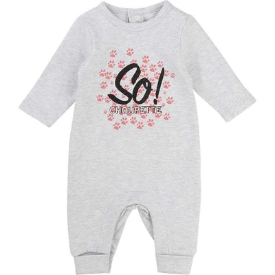 Karl Lagerfeld Gray Choupette Pawprint Pajamas-Outfits-Karl Lagerfeld-kids atelier