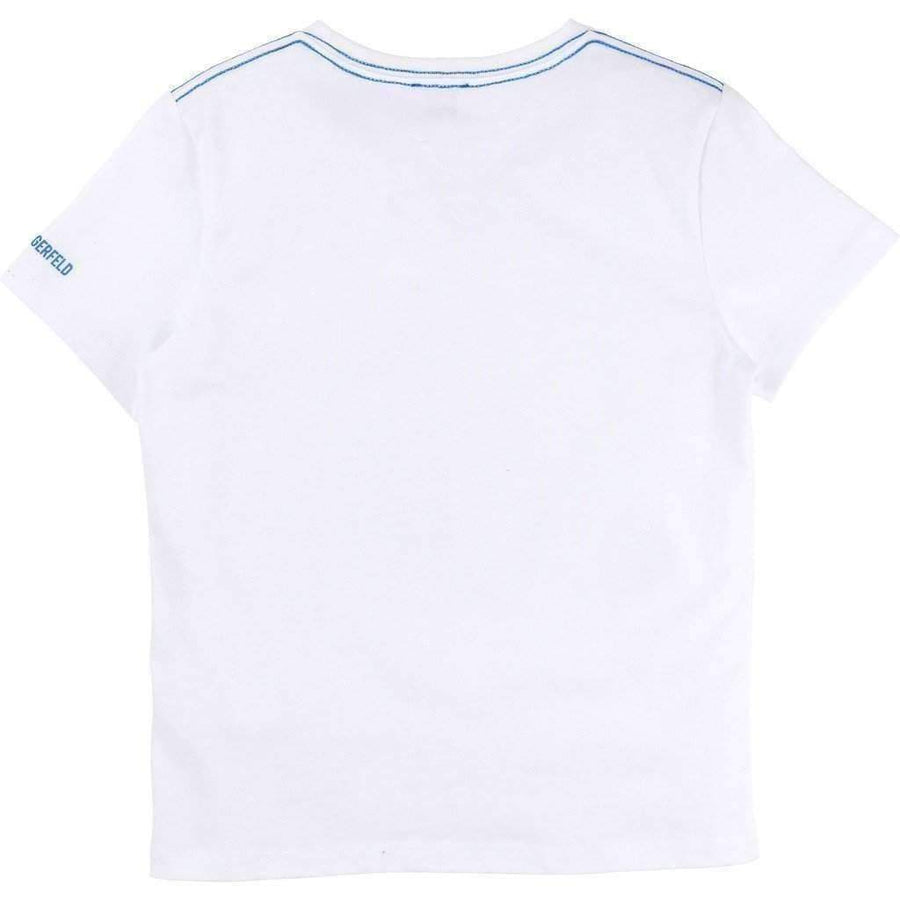 Karl Lagerled White KL Graphic T-Shirt