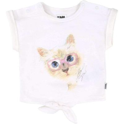 Kitty Sketch T-Shirt-Shirts-Karl Lagerfeld-kids atelier