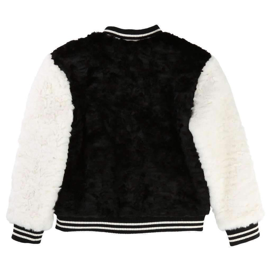 Little Mar Jacobs Black & White Letterman Jacket-Outerwear-Little Marc Jacobs-kids atelier