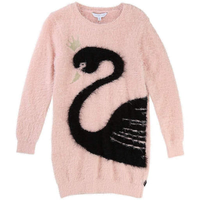 Little Marc Jacobs Black Swan on Pink Dress-Dresses-Little Marc Jacobs-kids atelier