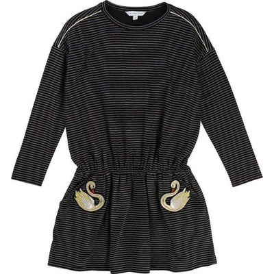 Little Marc Jacobs Black Swan Pocket Dress-Dresses-Little Marc Jacobs-kids atelier