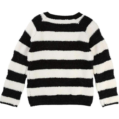 Little Marc Jacobs Black & White Striped Sweater-Shirts-Little Marc Jacobs-kids atelier