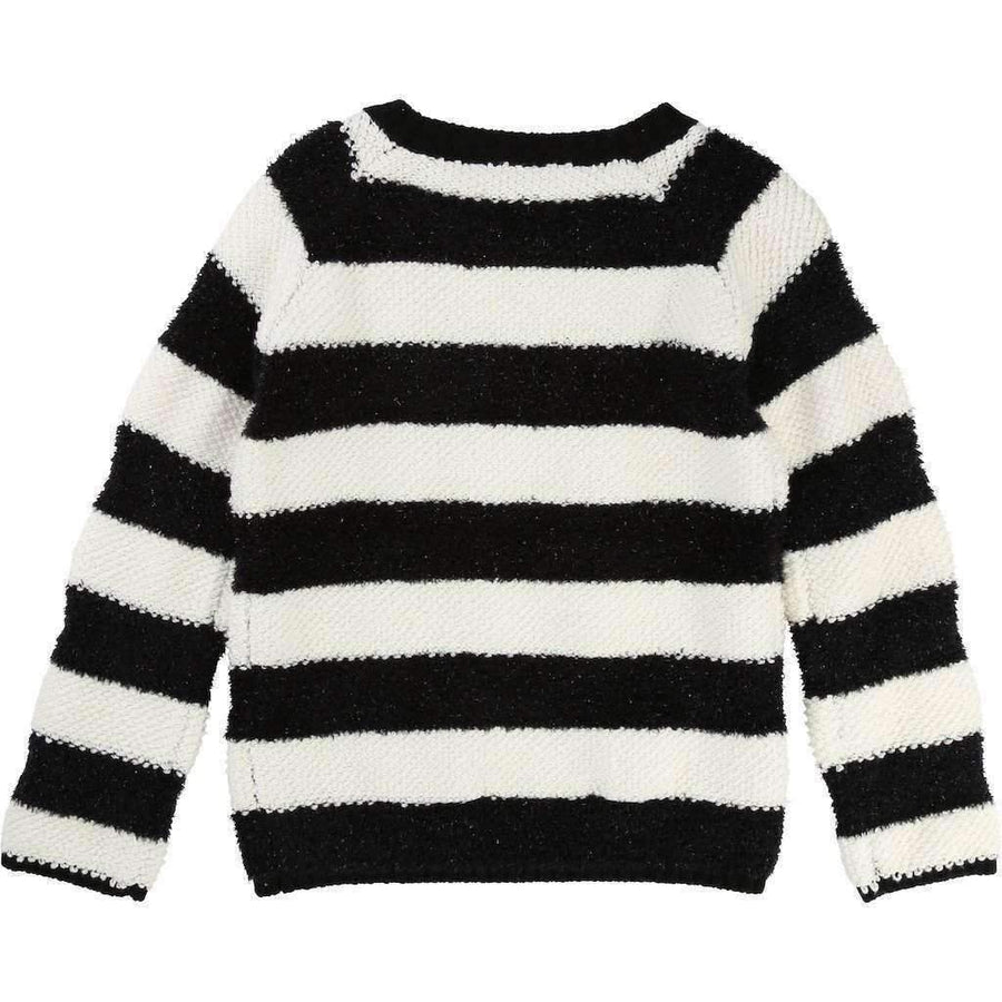 Little Marc Jacobs Black & White Striped Sweater