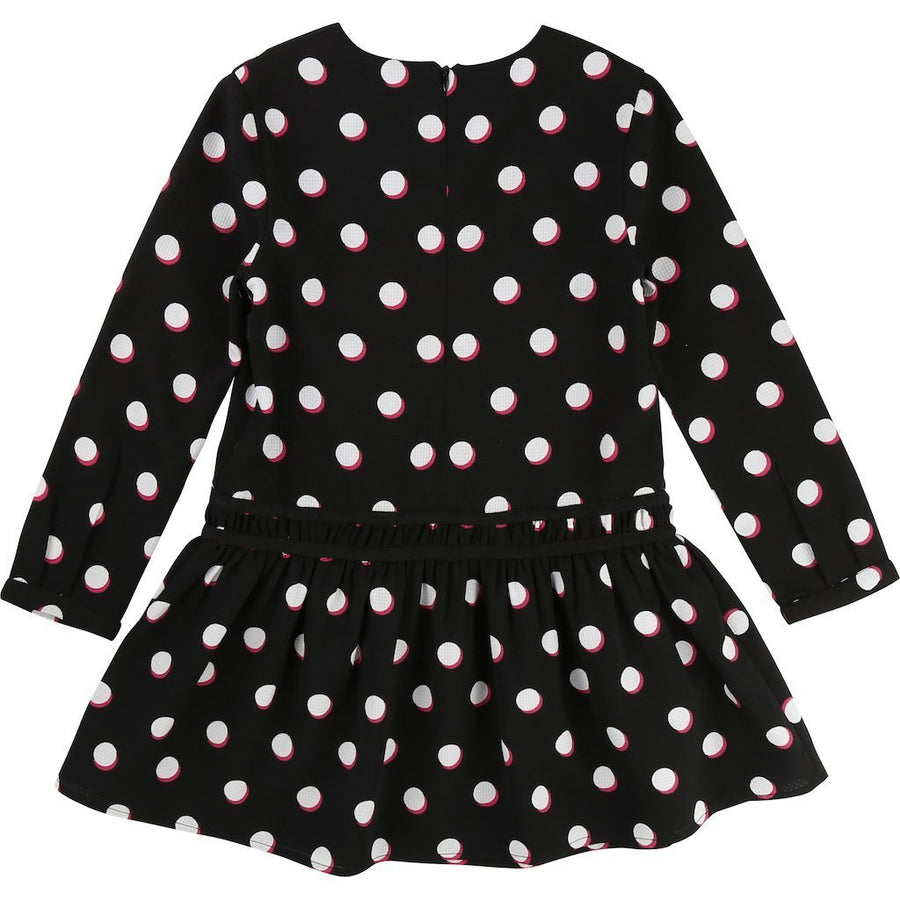 Little Marc Jacobs Black&White Polka Dot Dress-Dresses-Little Marc Jacobs-kids atelier