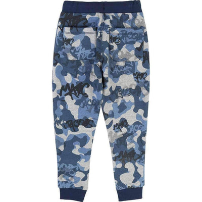Little Marc Jacobs Blue Graffiti Camouflage Pants-Pants-Little Marc Jacobs-kids atelier