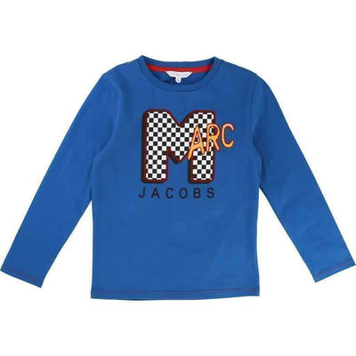 Little Marc Jacobs Blue M for Marc T-Shirt-Shirts-Little Marc Jacobs-kids atelier