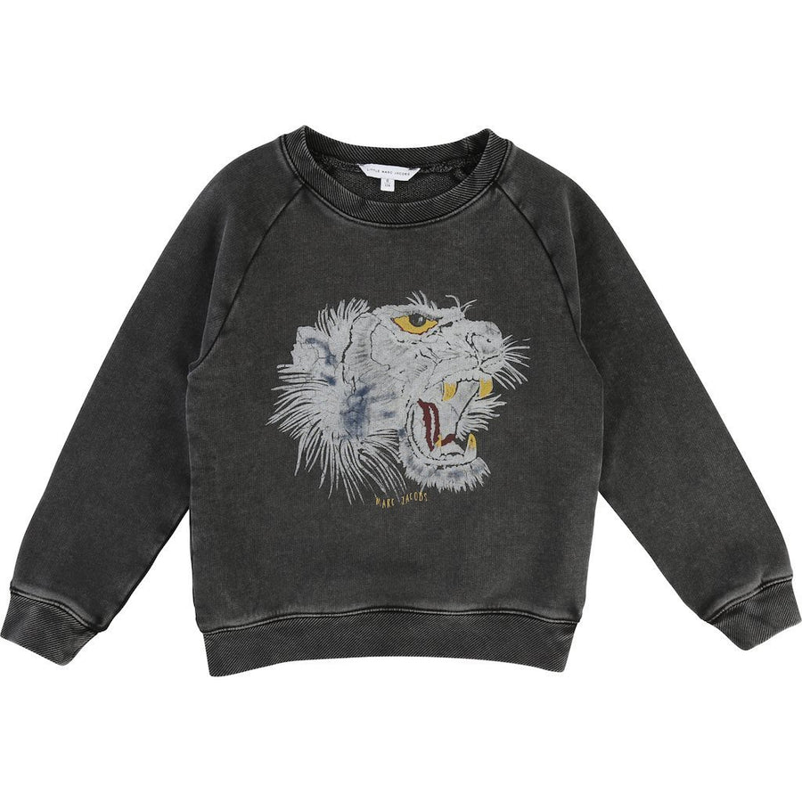 Little Marc Jacobs Charcoal Gray Tiger T-Shirt-Shirts-Little Marc Jacobs-kids atelier