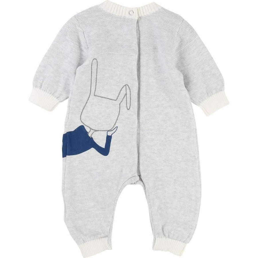 Little Marc Jacobs Gray Bunny Outfit-Bodysuits-Little Marc Jacobs-kids atelier