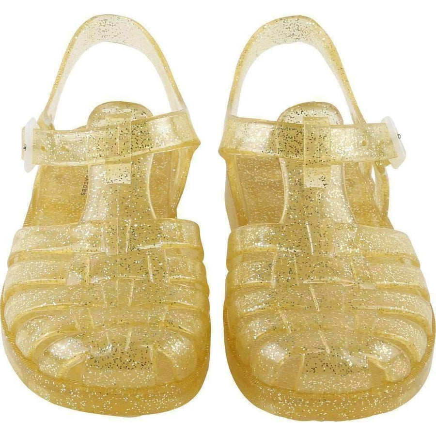 Gold Jelly Sandals