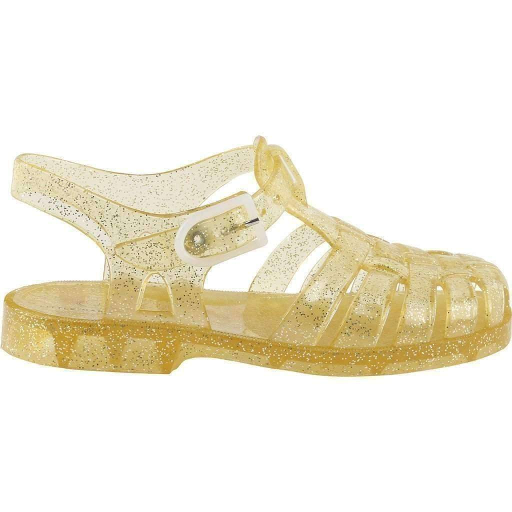 Gold Jelly Sandals - kids atelier