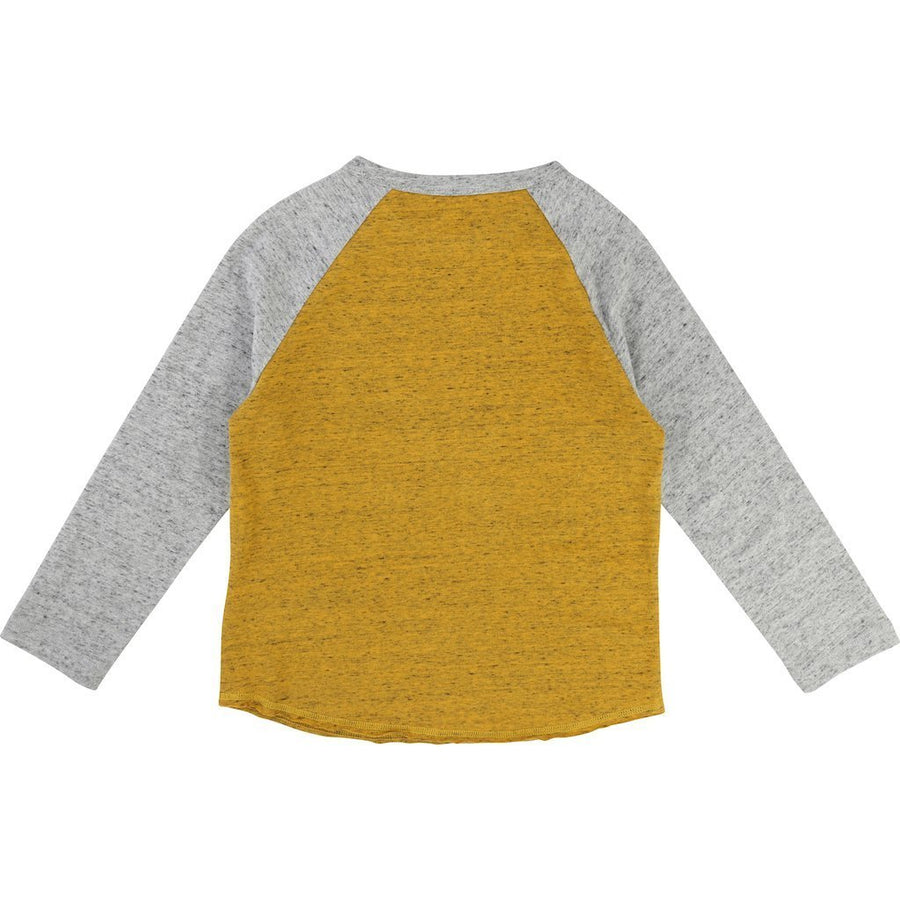 Little Marc Jacobs Mustard Yellow Baseball T-Shirt-Shirts-Little Marc Jacobs-kids atelier