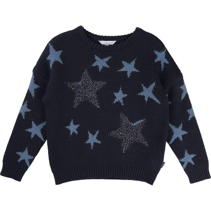 Little Marc Jacobs Navy Blue Stars Sweater-Shirts-Little Marc Jacobs-kids atelier