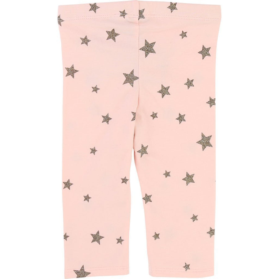 Little Marc Jacobs Pink Gold Star Leggings-Leggings-Little Marc Jacobs-kids atelier