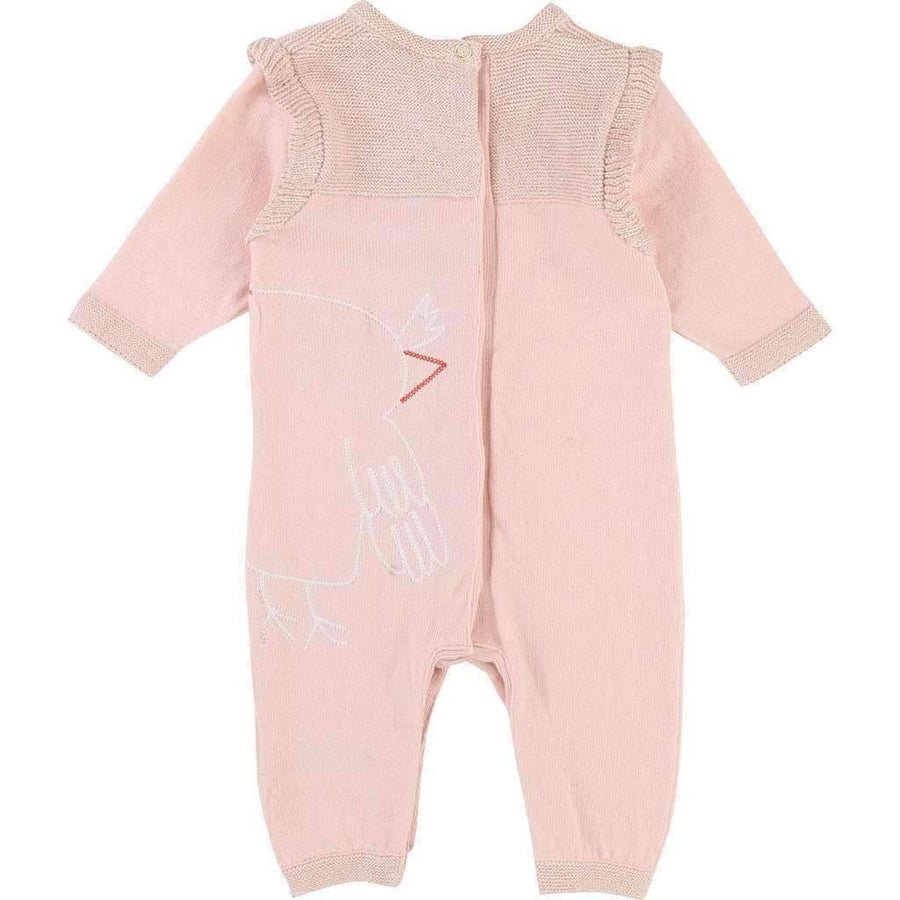 Little Marc Jacobs Pink Owl Jumpsuit Outfit-Bodysuits-Little Marc Jacobs-kids atelier