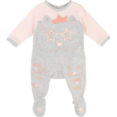 Little Marc Jacobs Pink Stripes Cat Onesie-Bodysuits-Little Marc Jacobs-kids atelier