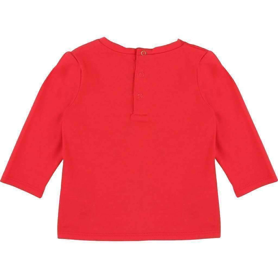 Little Marc Jacobs Red Miss Marc T-Shirt-Shirts-Little Marc Jacobs-kids atelier