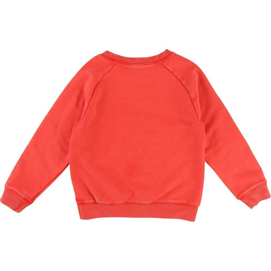 Little Marc Jacobs Red Mister Marc Sweat Shirt-Shirts-Little Marc Jacobs-kids atelier