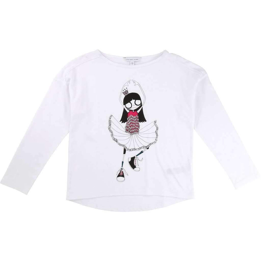 Little Marc Jacobs White Miss Marc T-Shirt-Shirts-Little Marc Jacobs-kids atelier