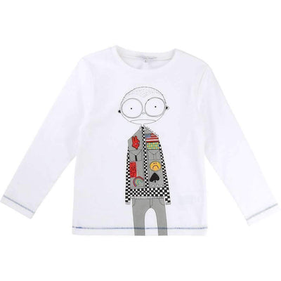 Little Marc Jacobs White Mister Marc T-Shirt-Shirts-Little Marc Jacobs-kids atelier