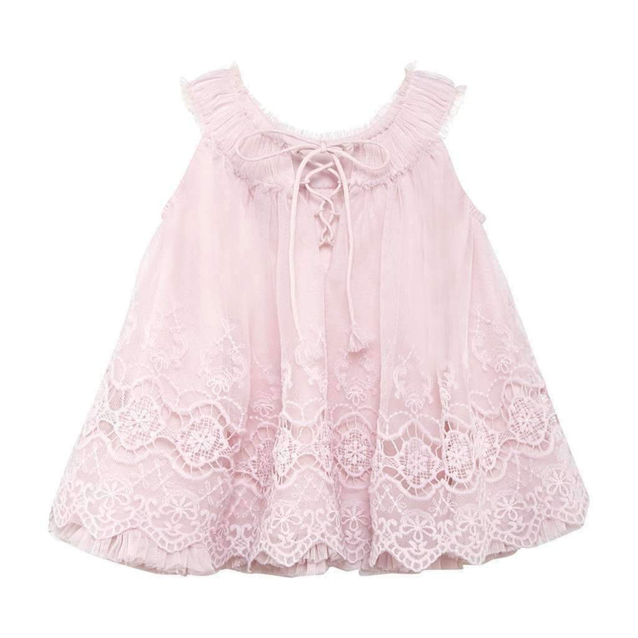 Luna Luna Alethea Pink Embroidered Dress