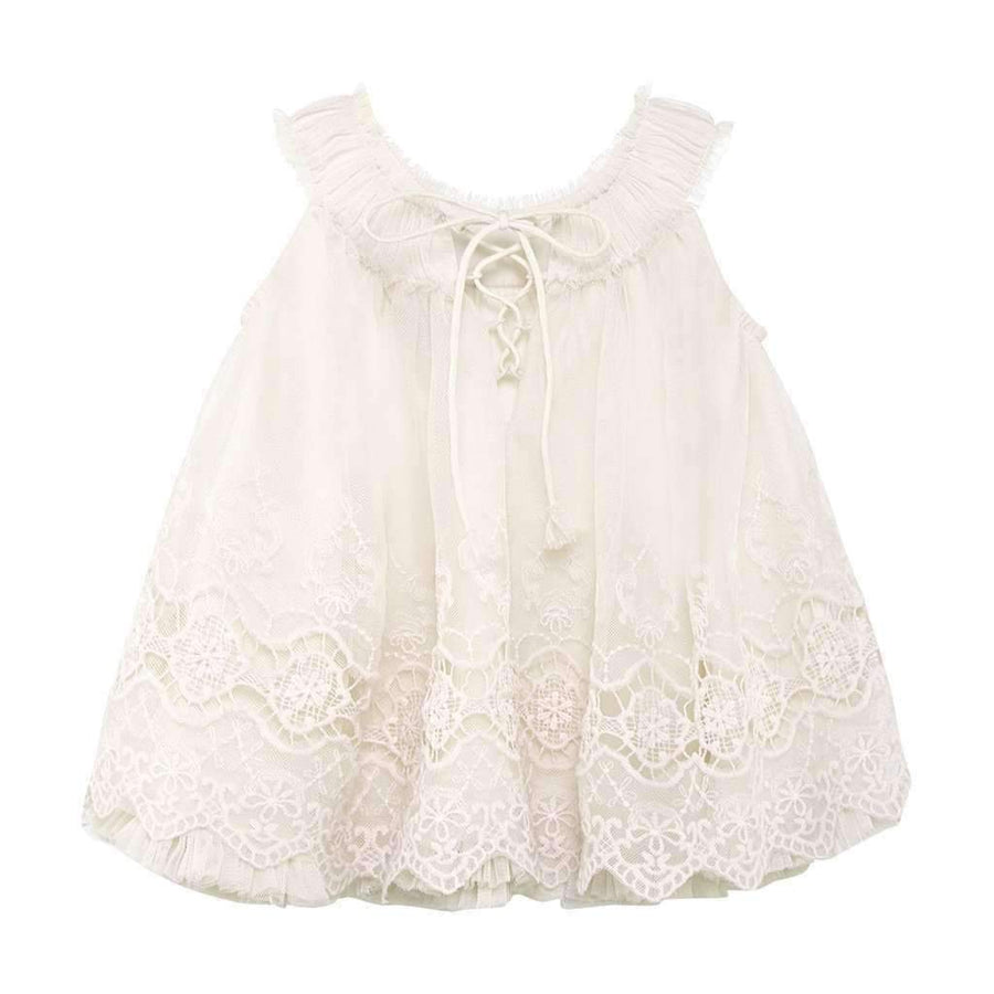 Luna Luna Alethia Champagne Embroidered Dress