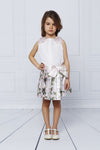 MAMA LUMA White Satin Top + Floral Skort Set-Sets-Mama Luma-kids atelier